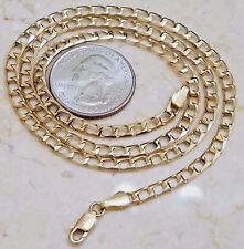 """GOLD square link chain 14k Solid 10.4g 20"""" 4mm (ASK 16 18 22 24 26 30 Italy"""