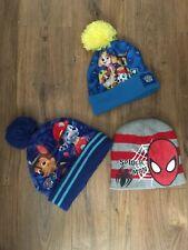 3 X boys Winter hat Spider Man, Paw Patrol Size 54