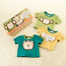 Safari Friends Tiny Tee's 3-Pack Jungle Themed T-Shirts Baby Shower Gift Set