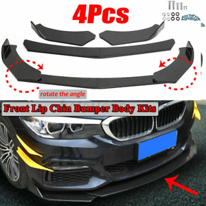 Carbon Fibre Look Front Splitter Bumper Lip For Ford Transit Custom