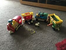 Fisher Price Vintage Play Family Circus Train + Animals Collectable