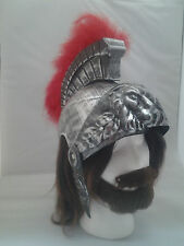 Silver Roman Soldier Helmet Centurion Trojan Adult One Size