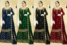 Sharara Georgette Anarkali Suit Party Wear Salwar Kameez Indian Shalwar Suit