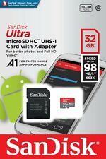 SanDisk 32GB Ultra 653x 98MB/s Class 10 UHS-I Micro SD SDHC Speicherkarte Feb