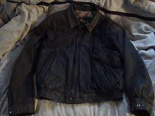 Vintage Black Leather Jacket Bomber Jacket size R44  REED Coat Mens