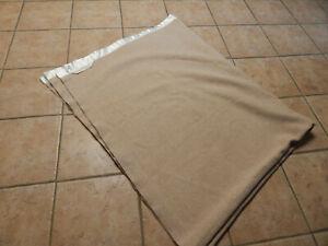 VINTAGE  CASHMERE -WOOL LTD BEIGE  / TAUPE MOTHPROOFED SOFT BLANKET