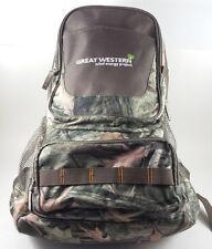 Leed's Hunt Valley® Woodland Camo Backpack Great Western Wind Energy Proj NWOT