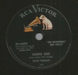 ROCKABILLY 78 - ELVIS PRESLEY - HOUND DOG - HEAR -1956 RCA 6604