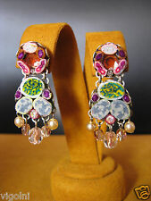 AYALA BAR EARRINGS DAREDEVIL HIP COLLECTION SWAROVSKI CRYSTALS DESIGNER GIFT