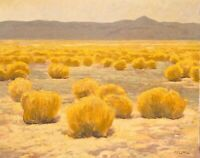 High Desert Gold Western Plains Southwest Art Oil Painting Realism Landscape Lrg