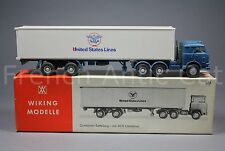 U525 Wiking modelle Ho container sattelzug mit 40 ft 520 truck trailer camion