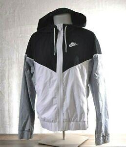 Nike Team Women's MEDIUM Windrunner Training Jacket Hoodie Black/Gray 898725 NWT