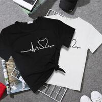 2019 New Love Printed lady Women T-shirts Casual Tee Tops Summer Short t shirt