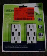 Leviton T5632-2PK USB Charger/Tamper-Resistant Duplex Receptacle 15-Amp 2-Pack