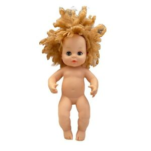 Horsman Baby Doll Soft Vinyl Body Curly Blond Hair Sleepy Eyes Vintage 1977 7-5