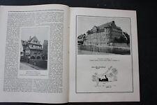 1910 N. Bauzeitung / Straßburg Thomasschule Musauschule neustadt Thekla Sachsen
