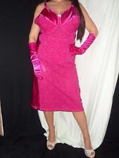 48DD TIGHT BODYCON SATIN Stretch Lace Full Slip Girdle Bra PINK Shaper 48 New