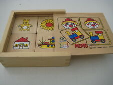 Holz-Spielzeug Memory in Holzbox Merkspiel Gedächtnisspiel ab 2 Jahre TOYS PURE