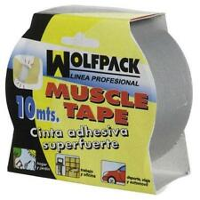 "Wolfpack 14060190 - cinta americana ""muscle"" gris 48mmx10m"