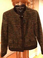 New Talbots multicolor tweed jacket, Petites, Size 2P