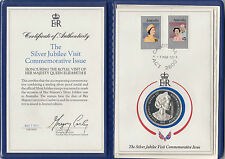 Medal 1977 Australia Royal Visit silver proof on card in folder & certificate