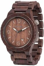 WeWood Alpha Chocolate 100% Natural Wood Wooden Watch Indian Rosewood Unisex