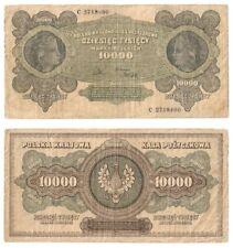 POLAND 10,000 Marek Inflation Issue Banknote (1922) P.32 - F.