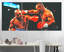 Evander Holyfield Mike Tyson Wall Art Multi Panel Split Canvas Print 3 Piece