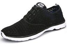 Dreamcity Men's water shoes athletic sport Lightweight walking shoes Blackw