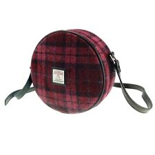 Ladies Authentic Harris Tweed Round Bag With Shoulder Strap LB1204 COL 90