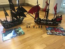 Lego Pirates of the Caribbean 4184 Black Pearl & 4195 Queen Anne's Revenge Used