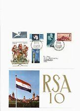 Südwestafrika,Mi.nrn. 363,364,365-366,FDC 1971,10 Jahre RSA!