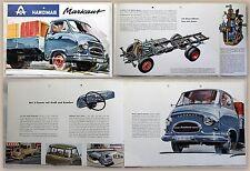 Werbeprospekt Broschüre Hanomag Markant 3-Tonner Lastwagen D28 GLA3 um 1960 xz