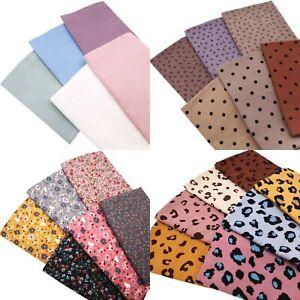 5-7pcs Brushed 100% Cotton Fabric Fat Quarters 46 x 46cm Flannel Sheets Bundles