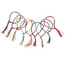 9pcs Bracelets Bresiliens de Cheville Bracelet Hippie Fil Tresse Colore Fait WT