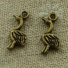 free ship 260 pieces Antique bronze goose charms 18x7mm #3461