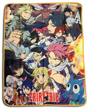 """Fairy Tail  Big Group Sublimation Throw Blanket 46""""x60"""" NEW! FREE USA SHIPPING!"""