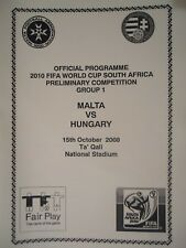 Programma 15.10.2008 Malta-Hungary Ungheria
