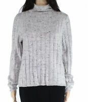 Madewell Womens Sweater Gray Size Small S Mock-Neck Ribbed Marled $75 128