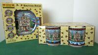 Debbie Mumm HALLOWEEN PLATES and HALLOWEEN Coffee Cups! Mugs 8 Pieces by Sakura