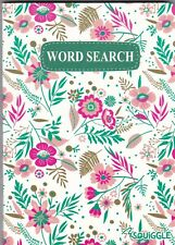 WORDSEARCH PUZZLE BOOK (PAPERBACK) 110 PUZZLE POCKET PUZZLES WHITE FLORAL COVER