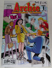 ARCHIE GETS MARRIED COMICS #600-605~SIGNED GOLDBERG~USLAN~ALL SIX CREATORS~NM/M