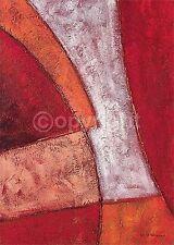 Nik Palmer: Rojo & Blanco Maze Imagen TERMINADA 50x70 Mural ABSTRACTO