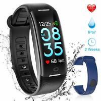 AGPTEK Fitness Tracker Watch IP68 Waterproof Fitbit Activity Smart Watch Black