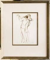 Framed Dancers Poster Print by Marcel Vertes g50