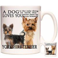 YORKSHIRE TERRIER MUG, Can Be Personalised, Dishwasher Safe, 11oz Ceramic Mug