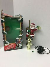 Mr Christmas Tree Topper Santa Animated Lighted 1994 Vintage Christmas Works