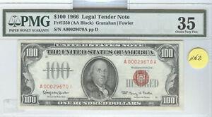 SERIES 1966 $100 LEGAL TENDER NOTE