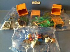 (L45) playmobil clapier animaux ferme ref 5123 4491 4490 neuf complet sans boite