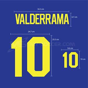 VALDERRAMA #10 Colombia Away World Cup 1994 PU SOCCER FOOTBALL PRINT